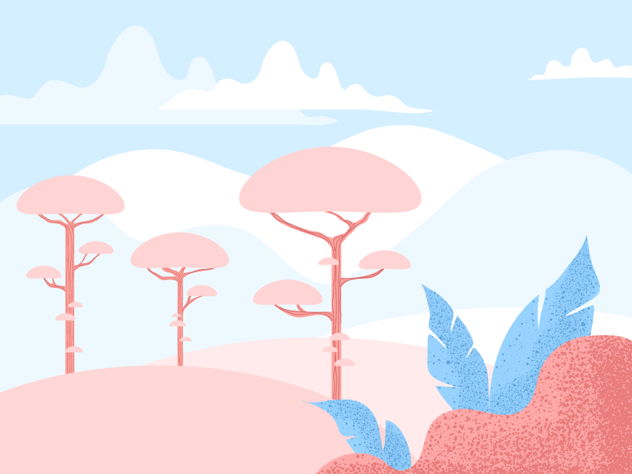 Pink trees pink trees enviroment mountains mountain background art environmental background design ilustracion childrenbooks illustration design design illustration art vectorial illustration texture plants illustrator vector digital art illustration