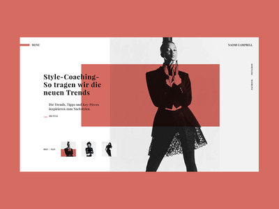 Naomi Campbell Main Page Concept