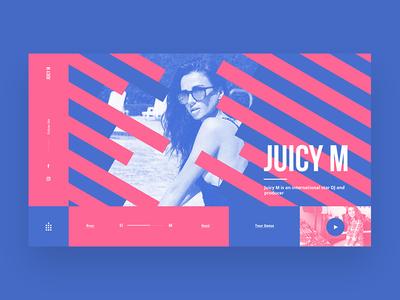Juicy M Main Page Concept