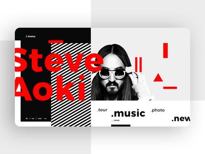 Steve Aoki Main Page Concept