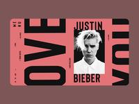 Justin Bieber Main Page Concept
