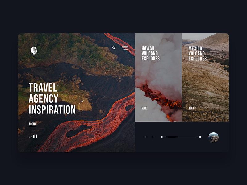 Travel Agency Inspiration personal site web design elegant minimal web ui typography dribbble hike design agency travel
