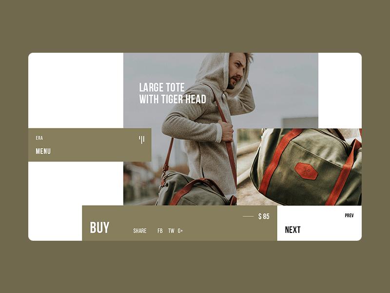 ERA - Single Product green card bag single product dribbble creative typography web design ui ux web