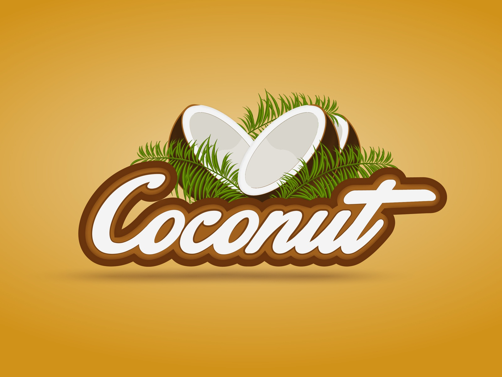 Coconut Logo ad flyer creative logo ad campaign typography ad agency creations ad banner website minimal illustration mascot brand vector illustrator identity branding designing design logo