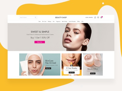 Beauty shop website