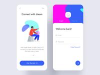 Event app get start & login screen