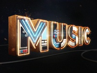 3D Music Typography