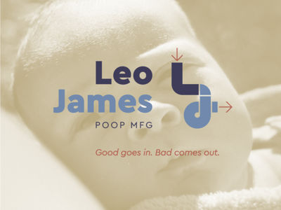 Leo James Mfg logo design