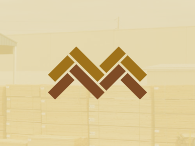 M&M Lumber logo icon design