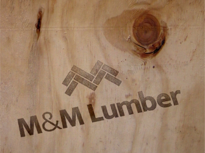 M&M Lumber logo redesign