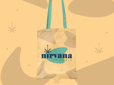 Nirvana Cannabis logo redesign and mockup