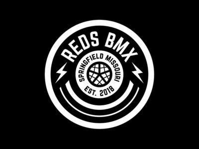 Red's Bike Shop badge design oklahoma tulsa corporate identity badge minimal modern grid monogram rebrand branding design logo