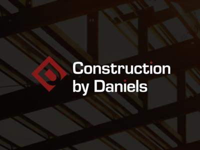 Construction by Daniels logo design oklahoma tulsa corporate identity badge minimal modern grid monogram rebrand branding design logo