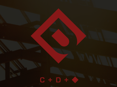 Construction by Daniels logo icon design oklahoma tulsa corporate identity badge minimal modern grid monogram rebrand branding design logo