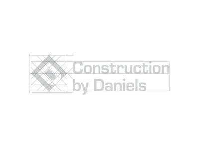 Construction by Daniels logo design grid oklahoma tulsa corporate identity badge minimal modern grid monogram rebrand branding design logo