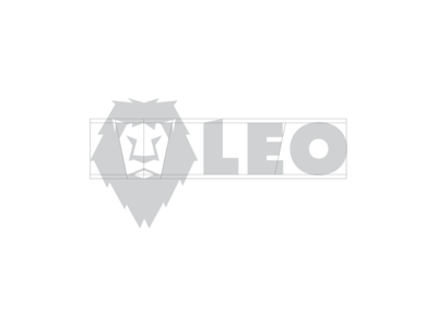 Leo the Lion logo design grid oklahoma tulsa corporate identity badge minimal modern grid monogram rebrand branding design logo
