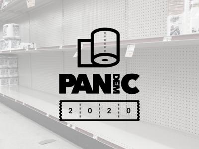 PAN(dem)IC 2020 logo design oklahoma tulsa corporate identity badge minimal modern grid monogram rebrand branding design logo