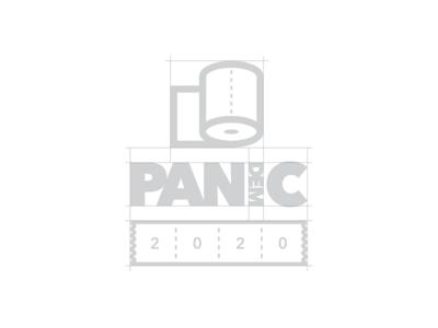 PAN(dem)IC 2020 logo design grid oklahoma tulsa corporate identity badge minimal modern grid monogram rebrand branding design logo