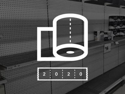 PAN(dem)IC 2020 logo design artifacts oklahoma tulsa corporate identity badge minimal modern grid monogram rebrand branding design logo