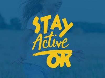 Stay Active Oklahoma logo design oklahoma tulsa corporate identity badge minimal modern grid monogram rebrand branding design logo