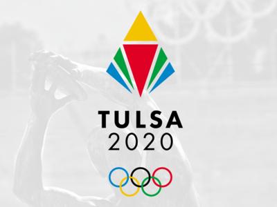 Tulsa 2020 Olympic challenge logo design rebrand oklahoma monogram modern minimal logo grid design identity corporate branding badge