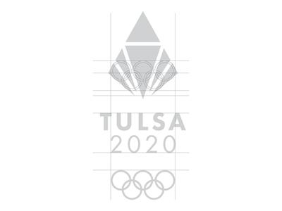 Tulsa 2020 Olympic logo challenge design grid rebrand oklahoma monogram modern minimal logo grid design identity corporate branding badge