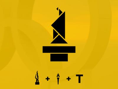 Tulsa 2020 Olympic logo challenge icon design rebrand oklahoma monogram modern minimal logo grid design identity corporate branding badge