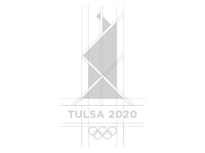Tulsa 2020 Olympic logo challenge logo grid rebrand oklahoma monogram modern minimal logo grid design identity corporate branding badge