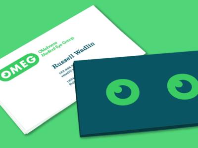 OMEG business card design rebrand oklahoma monogram modern minimal logo grid design identity corporate branding badge