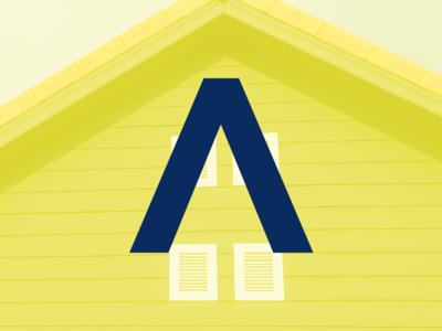Numark Roofing icon design rebrand oklahoma monogram modern minimal logo grid design identity corporate branding badge