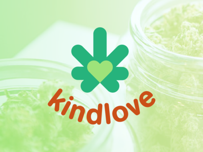 Kindlove logo redesign dispensary oklahoma cannabis modern minimal logo identity grid design corporate branding icon