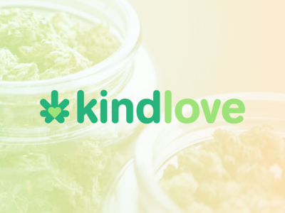 Kindlove logo redesign variant dispensary oklahoma cannabis modern minimal logo identity grid design corporate branding icon