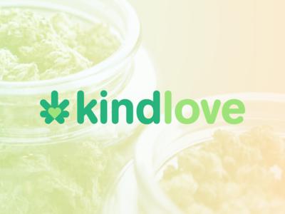 Kindlove logo redesign variant dispensary oklahoma cannabis modern minimal logo identity grid design corporate branding icon