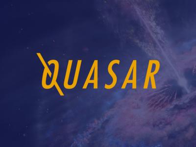 Quasar logo design rebrand oklahoma hand type modern minimal logo identity grid design corporate branding icon