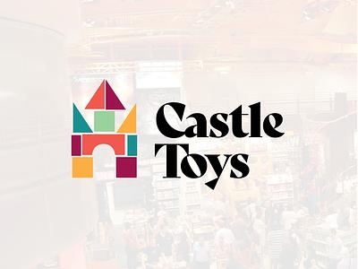 Castle Toys logo design rebrand oklahoma hand type modern minimal logo identity grid design corporate branding icon