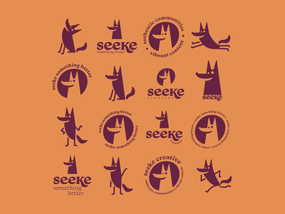 Seeke Creative logo and flash sheet flash wolf oklahoma tulsa retro design identity content corporate rebrand brand logo