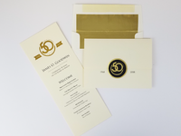 Gold foiled invited and envelopes