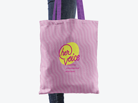 HER Voice tote bag