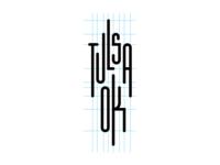 Tulsa Oklahoma logotype grid