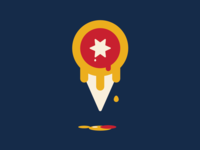 Tulsa flag as an ice cream cone