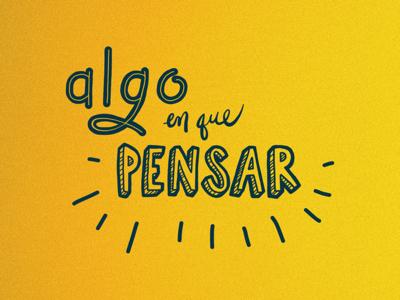 Spanish custom lettering