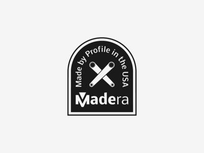 Madera typographic badge