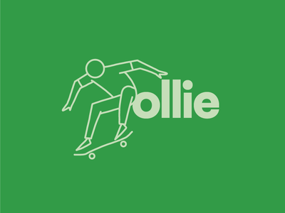 Ollie Skateboard Illustration