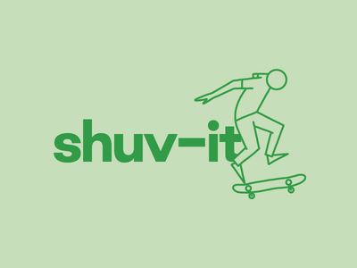 Shuv-it Skateboard Illustration
