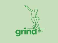 Grind Skateboard Icon