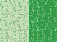 Skateboard Trick Illustration Pattern