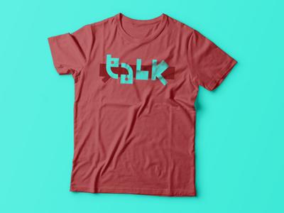 Talk logo redesign t-shirt
