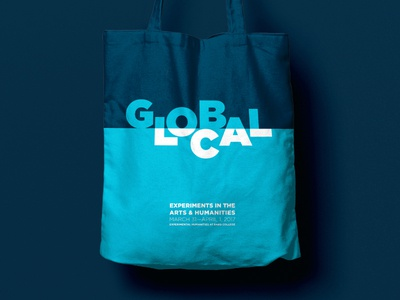Global / Local Branding typography type tote logotype logo local identity green global totebag branding blue