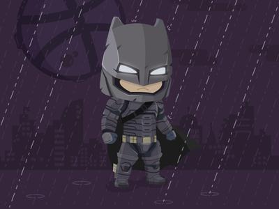 dribbble, do you bleed? vector batman firstshot hello