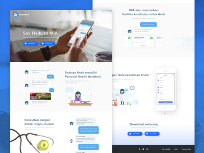 MIA Landing Page landing page illustration health layout app website ui
